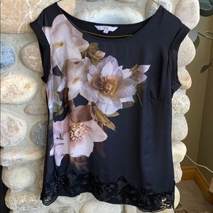 Cleo shirt sleeve silky tunic